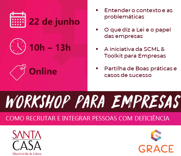 """Workshop """"Recrutamento e Integração de Pessoas com Deficiência"""""""