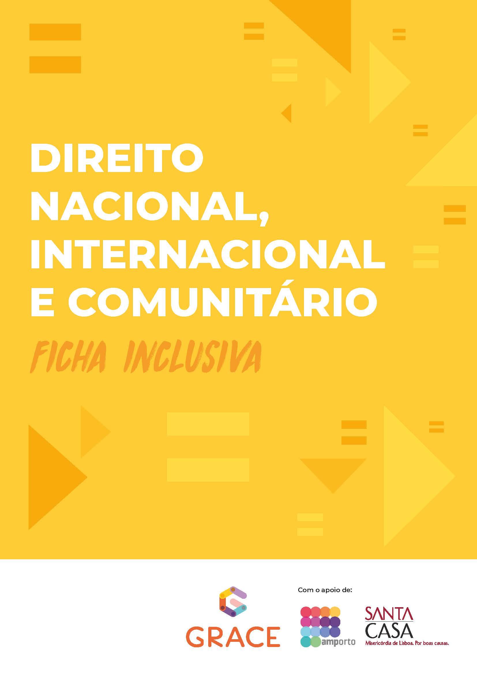 Ficha Inclusiva | Direito nacional, internacional e comunitário