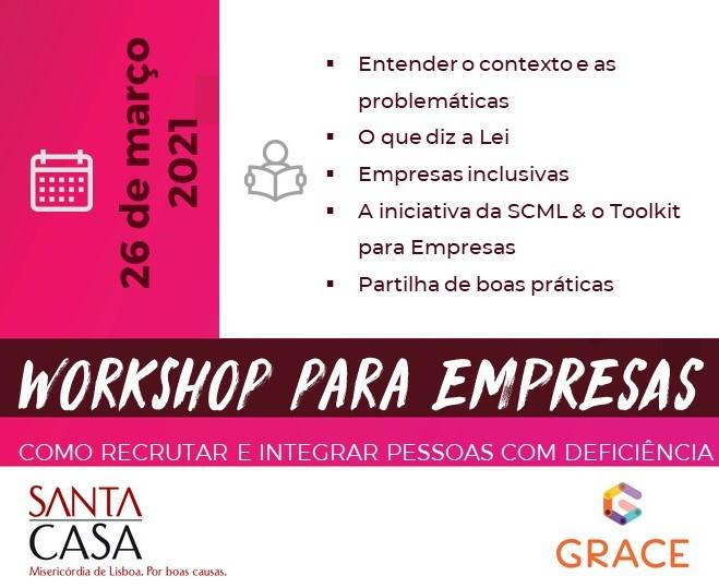 GRACE e SCML promovem workshop de recrutamento inclusivo para empresas