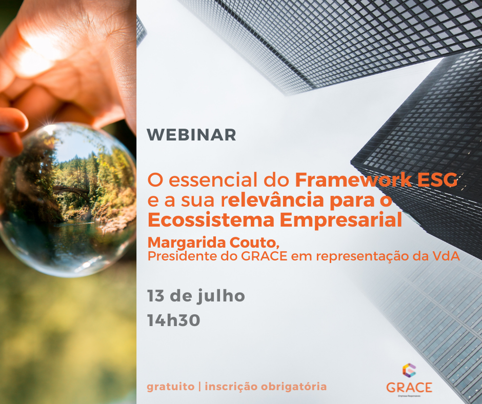 """Webinar """"O essencial do Framework ESG e a sua relevância para o Ecossistema Empresarial"""""""